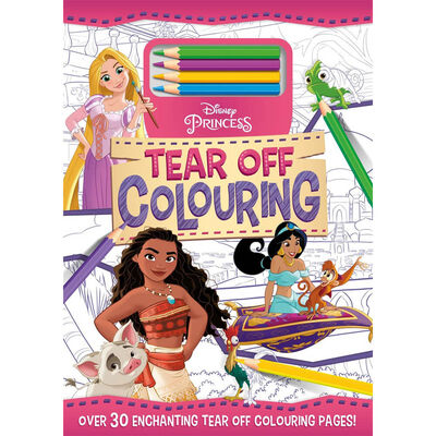 Disney Princess Tear Off Colouring Pad image number 1