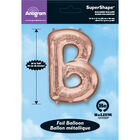 34 Inch Light Rose Gold Letter B Helium Balloon image number 2