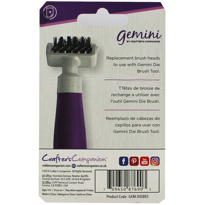 Gemini Die Brush Tool Replacement Heads - Pack of 3 image number 2