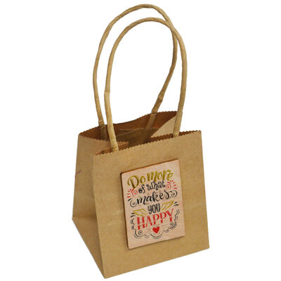 Brown Craft Gift Bags - Pack Of 3 image number 2