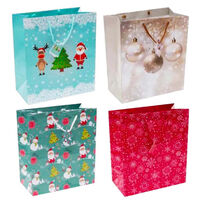 Assorted Large Christmas Gift Bags: Pack of 4