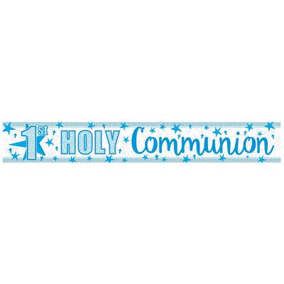 Blue 1st Holy Communion Foil Banner image number 2