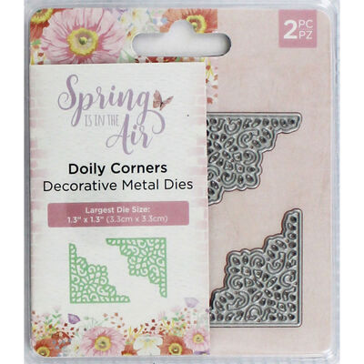 Crafters Companion Spring is in the Air Metal Die - Doily Corners image number 1