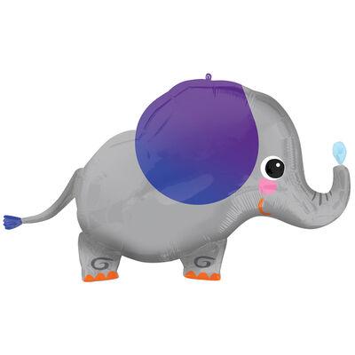 34 Inch Elephant Super Shape Helium Balloon image number 1