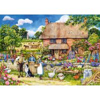 By Farm Yard Gate 1000 Piece Jigsaw Puzzle