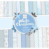 White Christmas Paper Pad 12 x 12 Inch