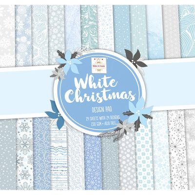 White Christmas Paper Pad 12 x 12 Inch image number 1