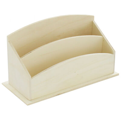 Natural Wooden Letter Tray image number 1