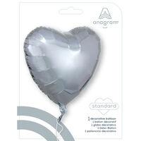 18 Inch Silver Heart Helium Balloon