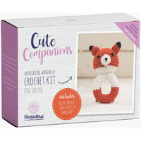 Cute Companions Miniature Handheld Crochet Kit - Fin the Fox