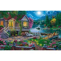 House by the Moonlit Lake 1000 Piece Jigsaw Puzzle