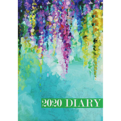 A5 Blue Floral 2020 Week to View Diary image number 1