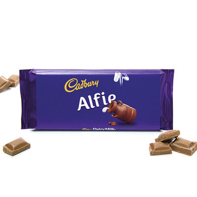 Cadbury Dairy Milk Chocolate Bar 110g - Alfie image number 2