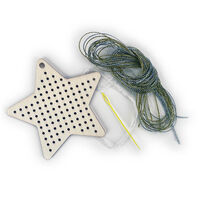 Sew Your Own Wooden Cross Stitch Kit: Star
