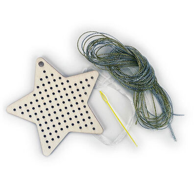 Sew Your Own Wooden Cross Stitch Kit: Star image number 2