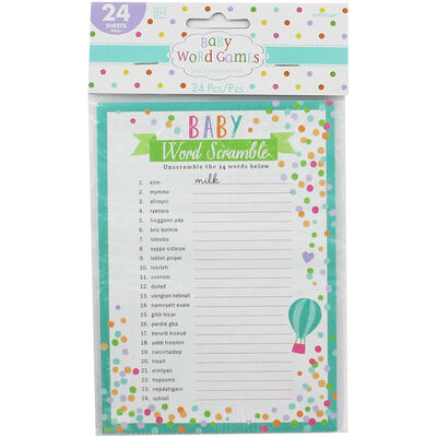 Baby Shower Word Games - Pack of 24 image number 1