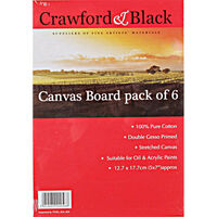 Canvas Boards 5 x 7 inches - Pack Of 6