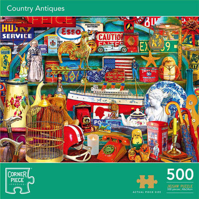 Country Antiques 500 Piece Jigsaw Puzzle image number 1