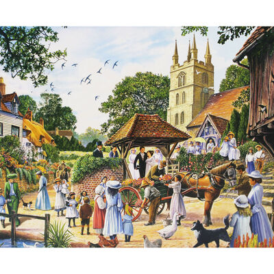 Village Wedding 1000 Piece Jigsaw Puzzle image number 2