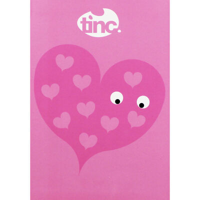 Tinc A5 Pink Heart Lined Notebook image number 1