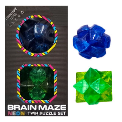 Neon Brain Maze Twin Puzzle Set - Assorted image number 2