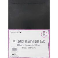 A4 Luxury Heavyweight Black Card - 50 Sheets