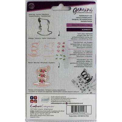 Gemini Elements Die - Floral Tea Cups image number 2