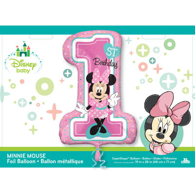 28 Inch Minnie Mouse 1st Birthday Helium Balloon image number 2