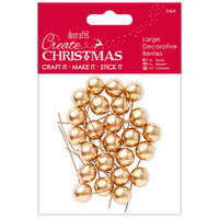 Gold Decorative Berries: Pack of 24