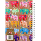 A5 Wiro Bright Elephants Notebook image number 3