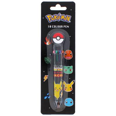 Pokemon Retro 10 Colour Ball Pen image number 1