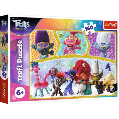 Trolls World Tour 160 Piece Jigsaw Puzzle image number 1