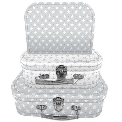 Grey Stars Storage Suitcases - Set Of 3 image number 2