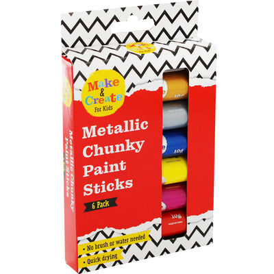 Metallic Poster Paint Sticks - 6 Pack image number 1