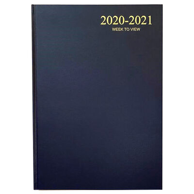 A4 Blue Week To View 2020-21 Academic Diary image number 1