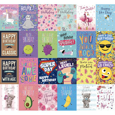 Complete Box of 576 Greetings Cards - 12x48 New Designs image number 2