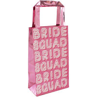 Pink Bride Squad Party Bags - 5 Pack
