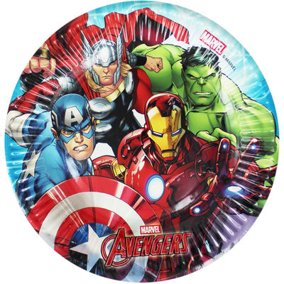 Marvel Avengers Small Paper Plates - 8 Pack image number 1