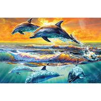 Dolphin Dawn 1000 Piece Silver-Foiled Premium Jigsaw Puzzle