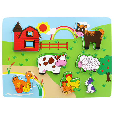 Farmyard Chunky Wooden Puzzle image number 1