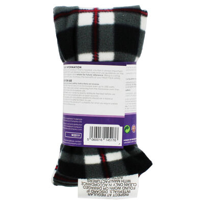 Black with Red Tartan Lavender Microwaveable Heat Wrap image number 3