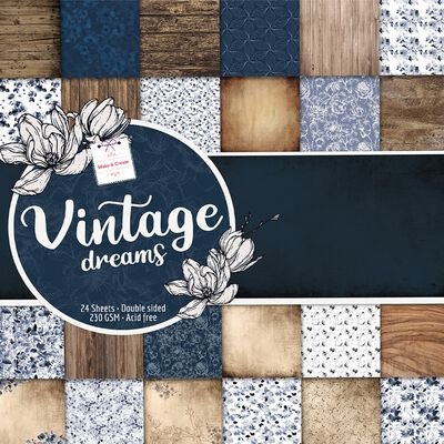 Vintage Dreams Design Pad: 12 x 12 Inches image number 1