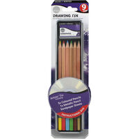 Daler Rowney Simply Pencil Drawing Tin Set - 9 Pieces