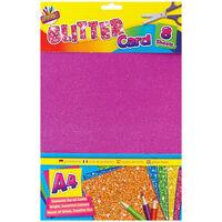Art Box A4 Glitter Card: 8 Sheets