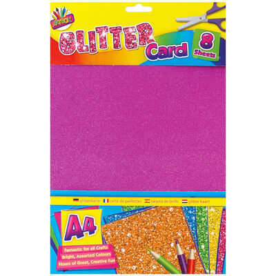Art Box A4 Glitter Card: 8 Sheets image number 1