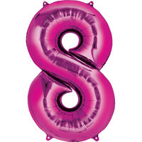 34 Inch Pink Number 8 Helium Balloon