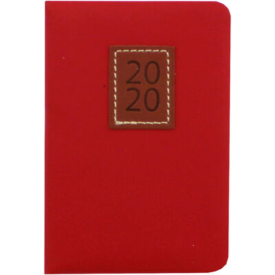 Red Executive 2020 Pocket Week to View Diary image number 1