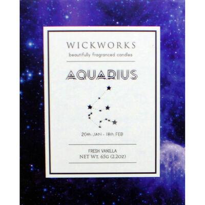 Zodiac Collection Aquarius Fresh Vanilla Candle image number 3