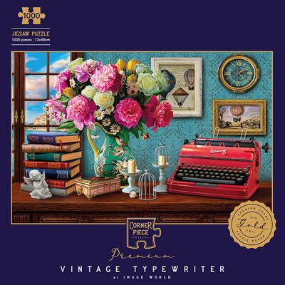 Vintage Typewriter 1000 Piece Gold-Foiled Premium Jigsaw Puzzle image number 1