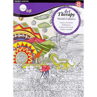 A4 Art Therapy Colouring Book: World Cultures image number 1